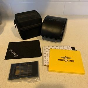 Breitling travel watch cases with booklets